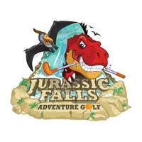 Jurassic Falls Adventure Golf's logo