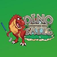 Dino Falls Adventure Golf's logo