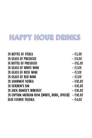 Menu 3 from Duo London - Bar - Restaurant - Club's menu images'
