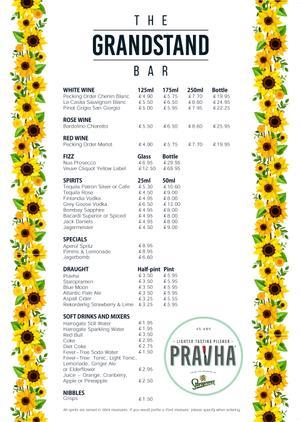 Menu 1 from Grandstand Bar 's menu images'