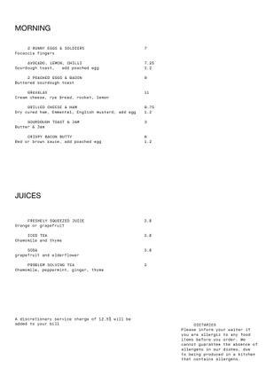 Menu 2 from Spiritland King's Cross's menu images'